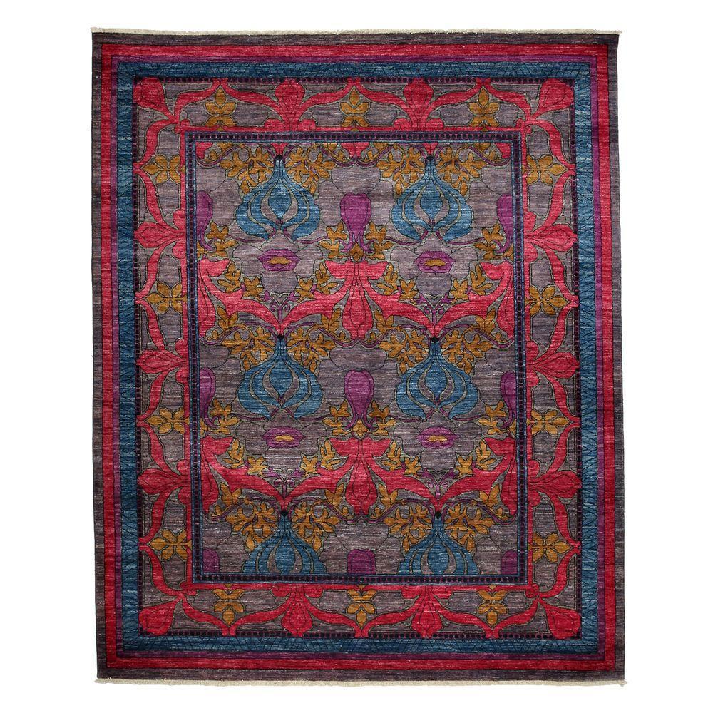 Darya Rugs Arts Blue 8 ft. 1 in. x 9 ft. 10 in. Indoor Area Rug