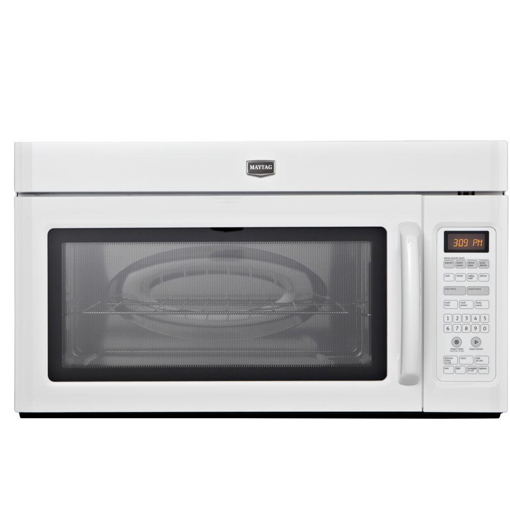 Maytag 2.0 cu. ft. Over the Range Microwave in White with Sensor Cooking