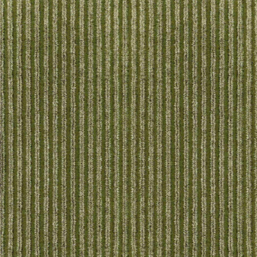 TrafficMASTER Corduroy Taupe/Olive 18 in x 18 in Carpet Tile, 16 Tiles-DISCONTINUED