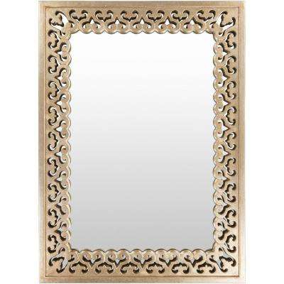 Ashby 32.5 in. x 44.5 in. Polyurethane Framed Mirror
