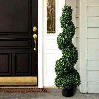 4 Ft Boxwood Spiral Topiary Tree