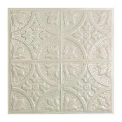 Jamestown 2 ft. x 2 ft. Lay-in Tin Ceiling Tile in Antique White