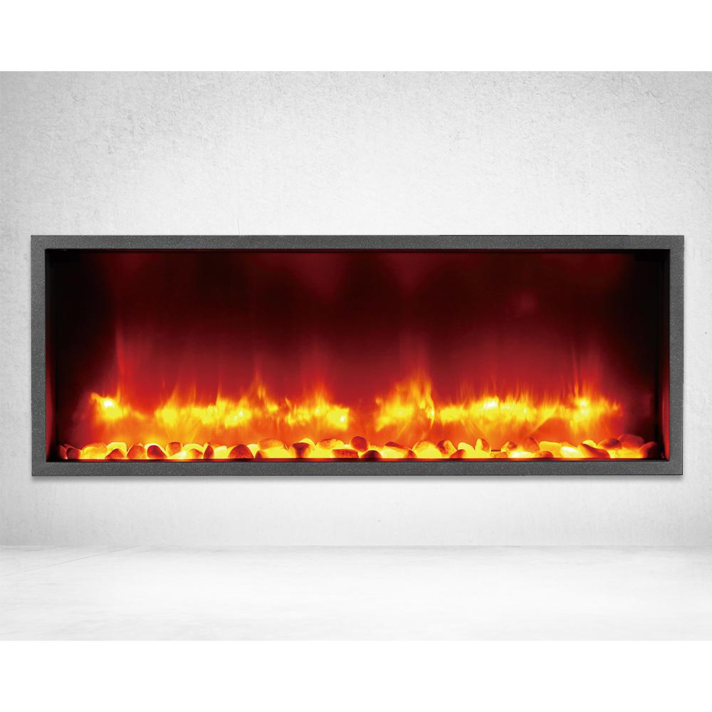 Dynasty Fireplaces 35 In Built In Led Electric Fireplace In Black