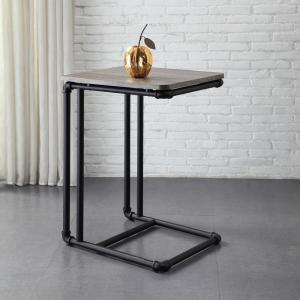 Neu Home Manchester Industrial Gray and Black Industrial Pipe Side Table by Neu Home