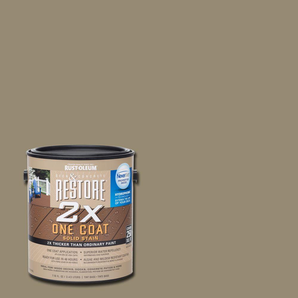 Rust-Oleum Restore 1 gal. 2X Taupe Solid Deck Stain with NeverWet