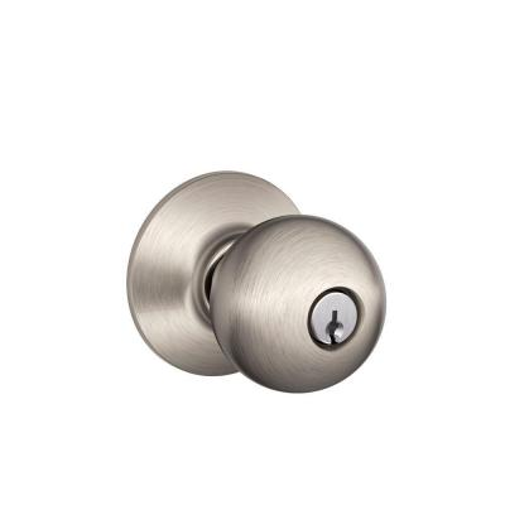 Orbit Satin Nickel Keyed Entry Door Knob