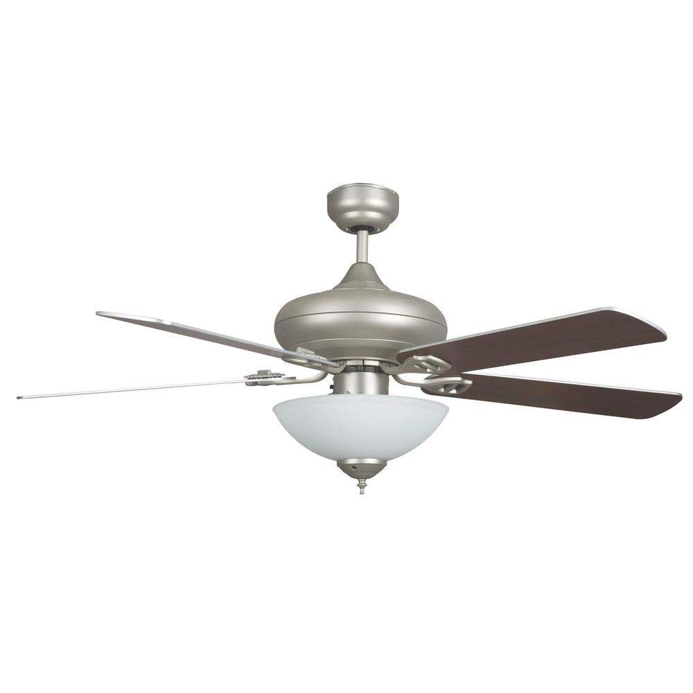 Valore Series 52 in. Indoor Satin Nickel Ceiling Fan