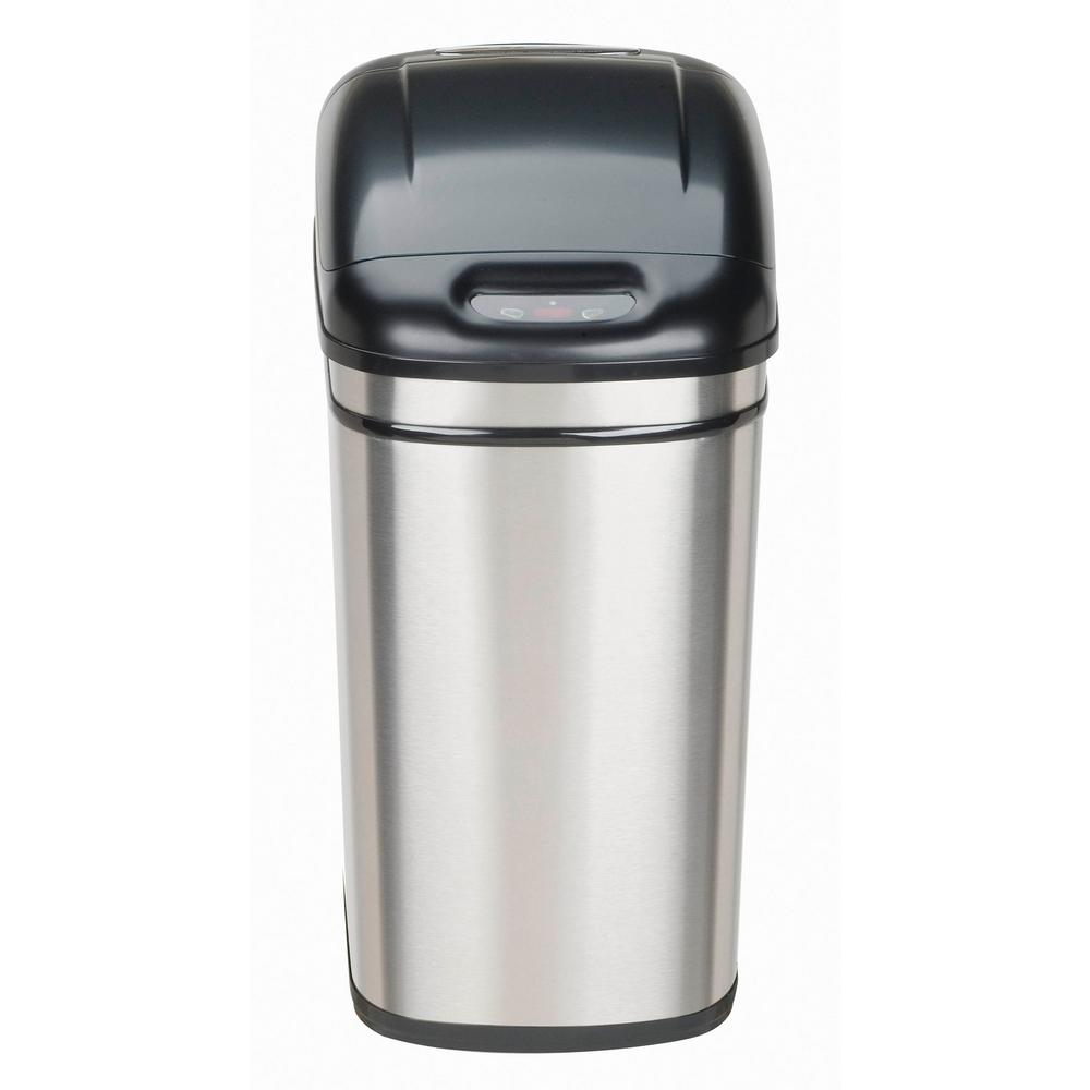 Sensor Trash Can/ Infrared Touchless Stainless Steel Trash Can