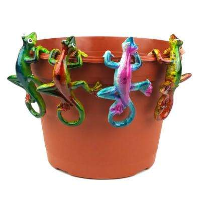 Multi Colored Gecko Pot Sitter Hanger (4-Piece)