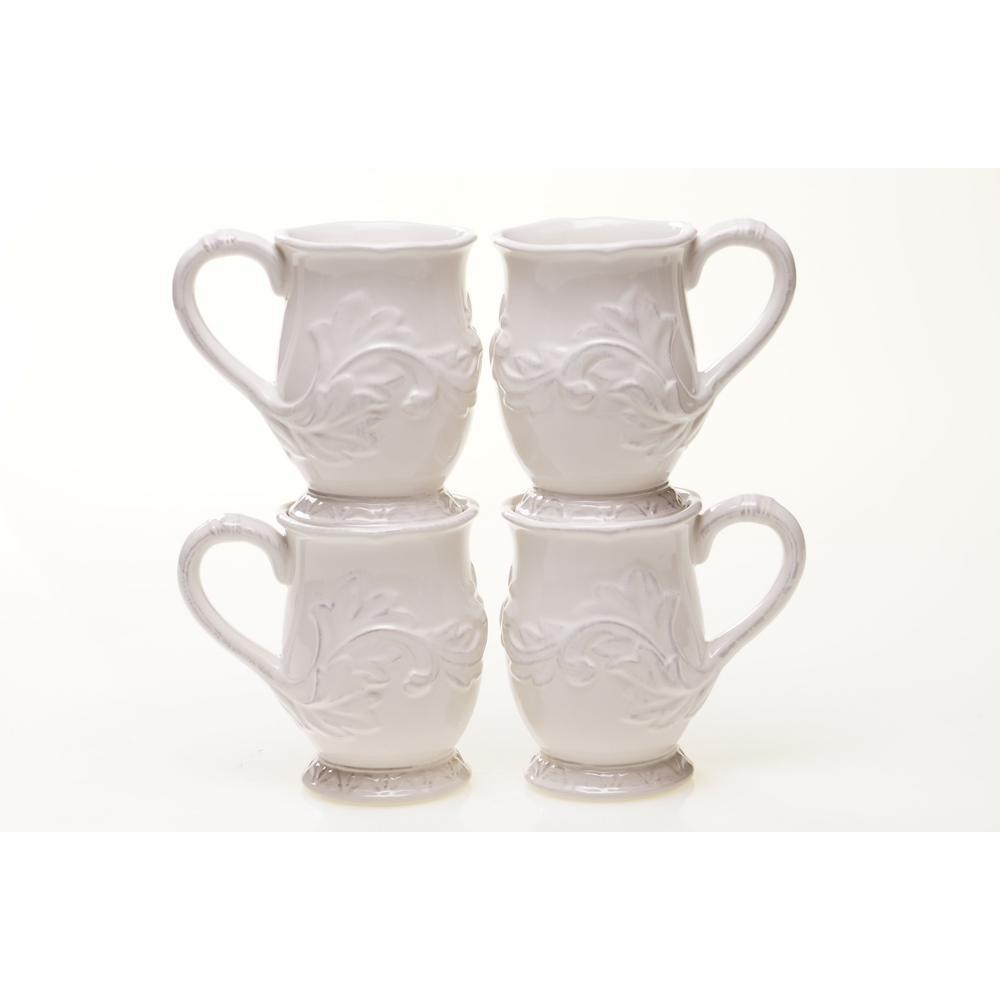 Firenze 16 oz. Ivory Mug (Set of 4)