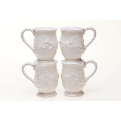 Firenze 16 oz. Ivory Mug (Set of 4)
