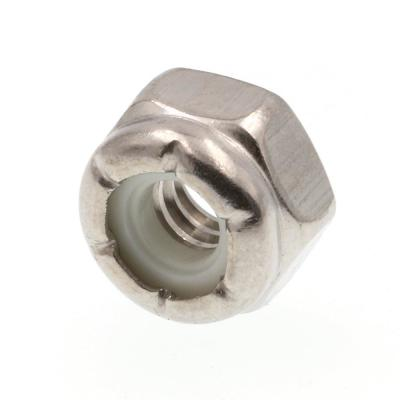 5//16-24 Finish Pattern Nylon Insert Lock Nut 18-8 Stainless Steel Package Qty 100