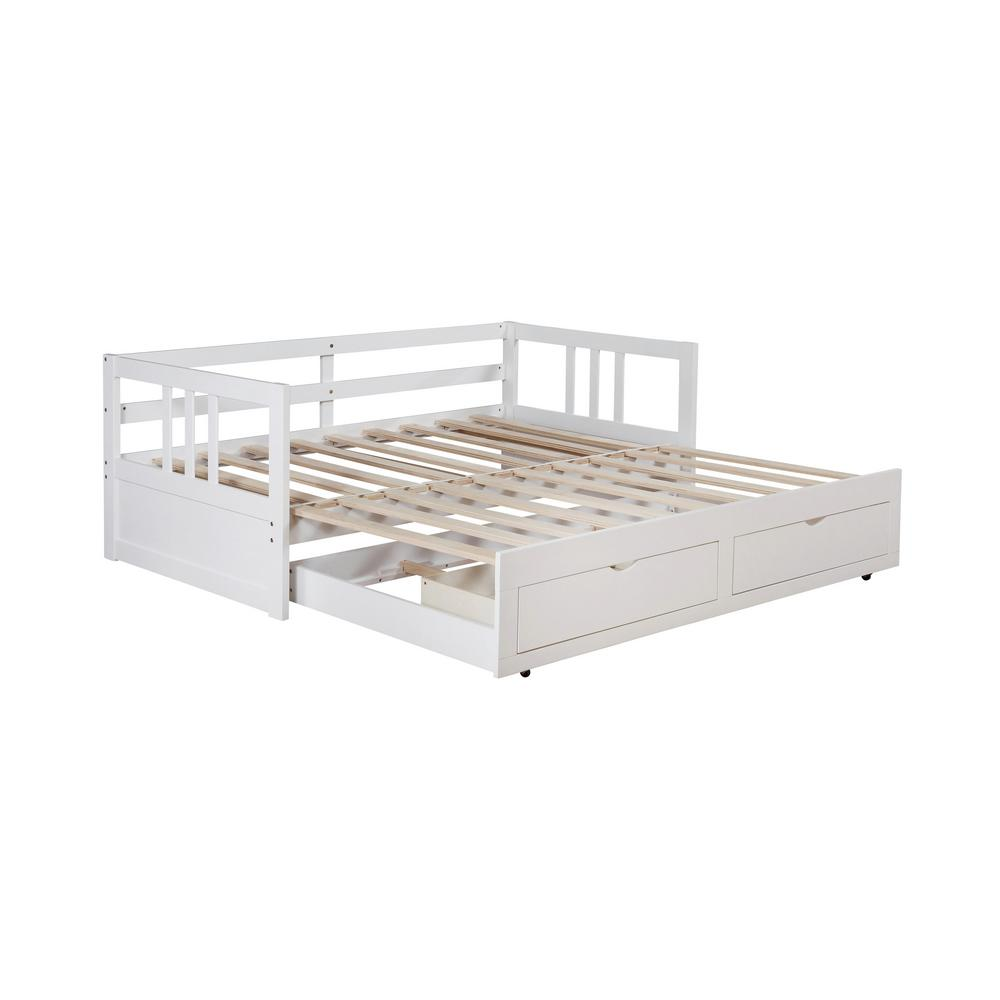 - Furniture Of America Kerry Convertible White Twin Daybed With