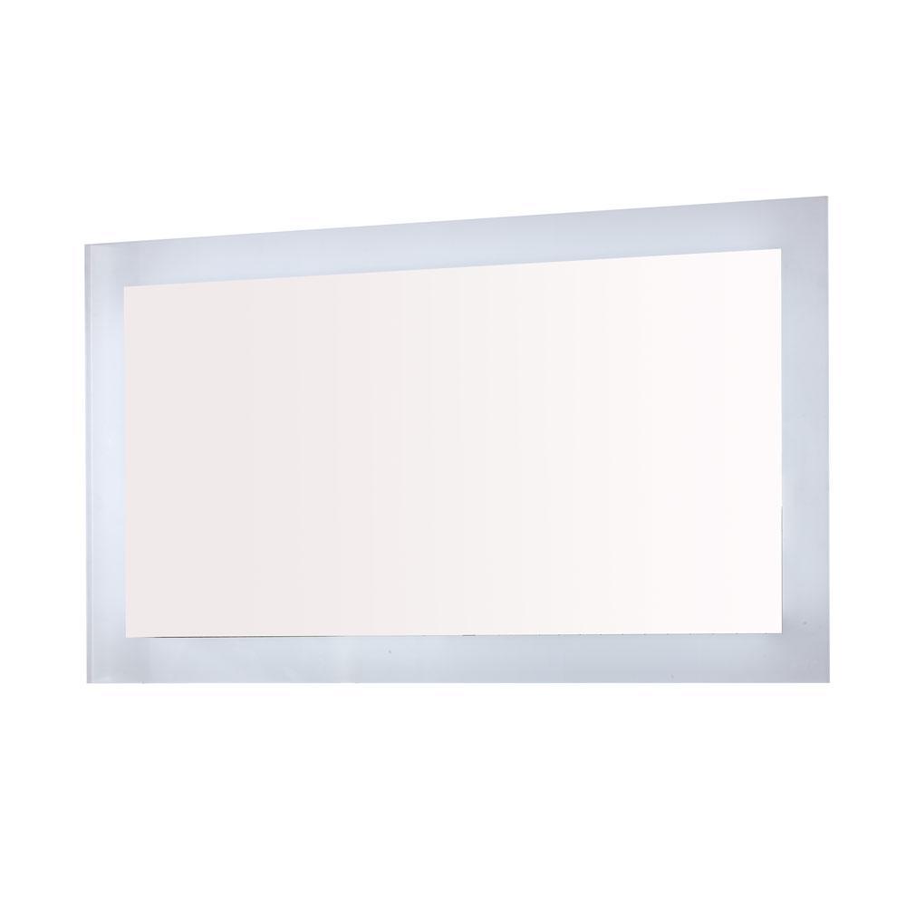 Innolight 48 in. W x 27 in. H Frameless Rectangular LED Light Bathroom Vanity Mirror