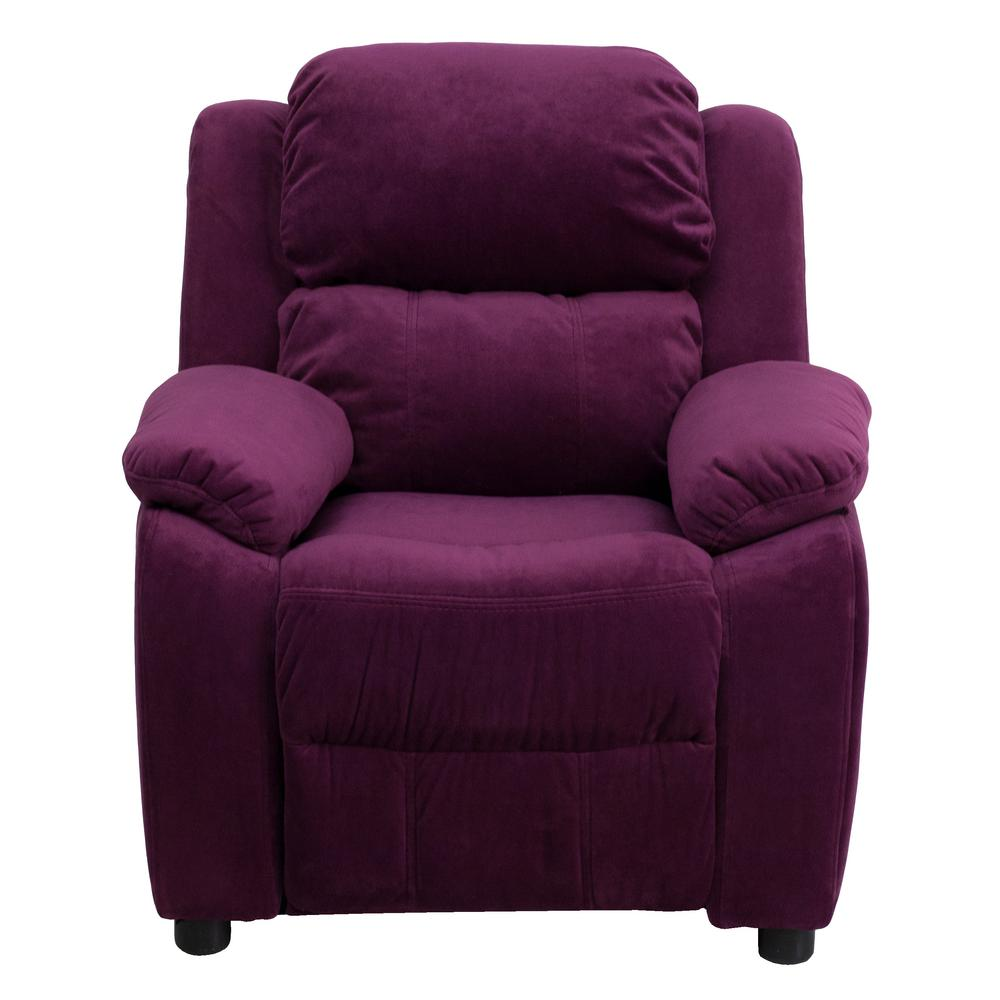 FLASH Deluxe Padded Contemporary Purple Microfiber Kids R...