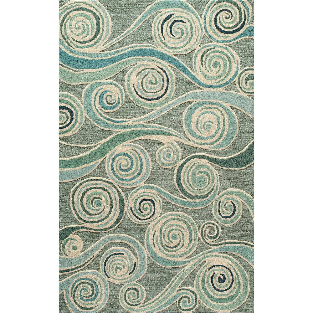 Dunes Light Blue 5 ft. x 8 ft. Indoor Area Rug