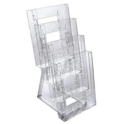 4-Tier Bifold Pocket for Counter with Brackets