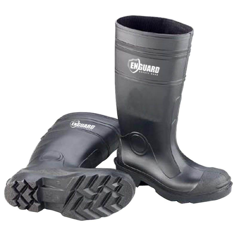 af97b08e56cb Enguard Men s Size 14 Black PVC Plain Toe Waterproof Rain Boots-EGPT-14 -  The Home Depot