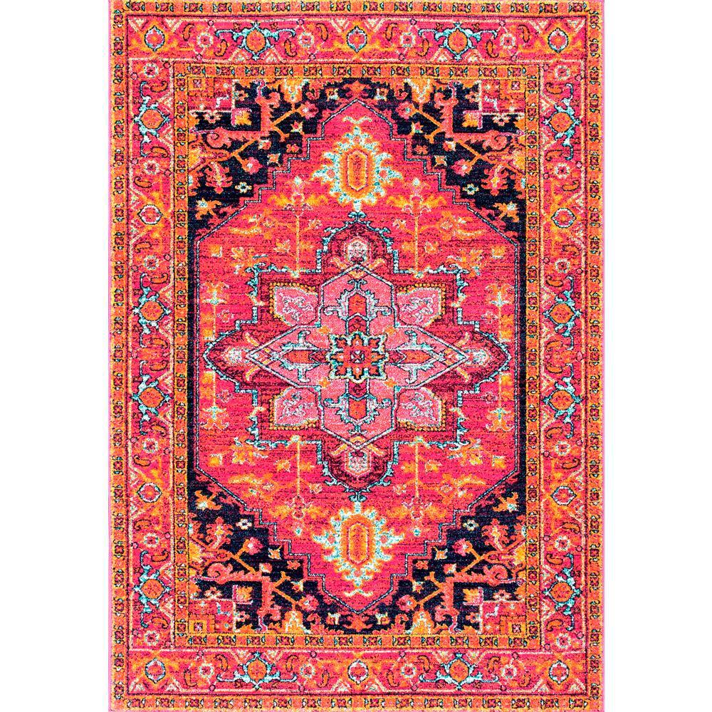 Shop Nuloom Traditional Persian Fancy Aqua Rug: NuLOOM Fancy Persian Vonda Pink 4 Ft. X 6 Ft. Area Rug