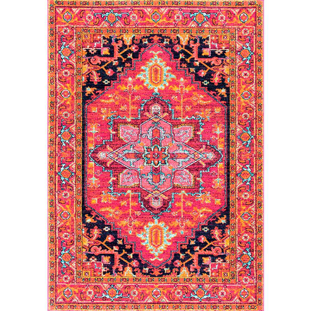 nuLOOM Fancy Persian Vonda Pink 8 ft. x 10 ft. Area Rug
