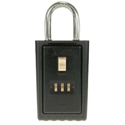 3 Digit Numeric Combination Lock Box with Key Locking Shackle