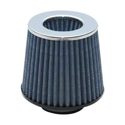 Open Funnel Perf Air Filter (5in Cone O.D. x 5in Tall x 3in inlet I.D.) - Chrome Filter Cap