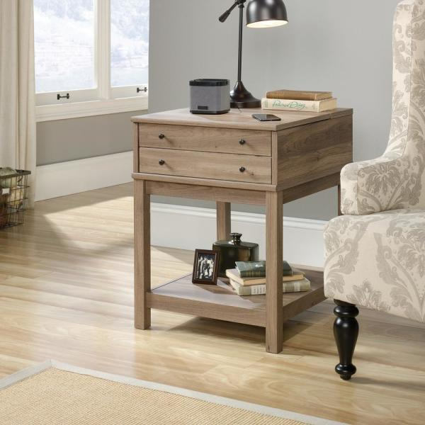 SAUDER Barrister Lane Salt Oak SmartCenter Side Table 422268