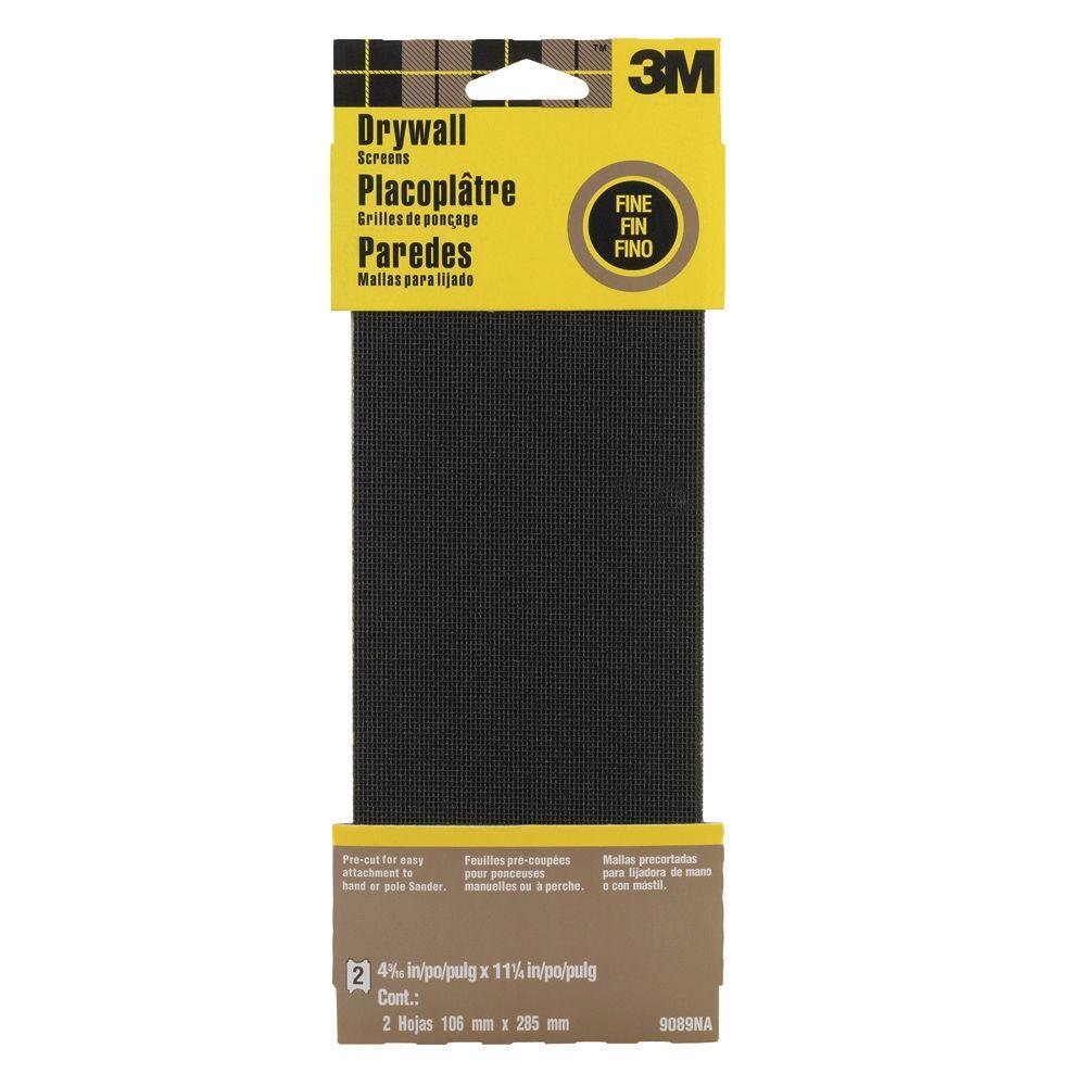 4-1/4 in. x 11-1/4 in. Drywall Sanding Screens Fine (2-Pack)