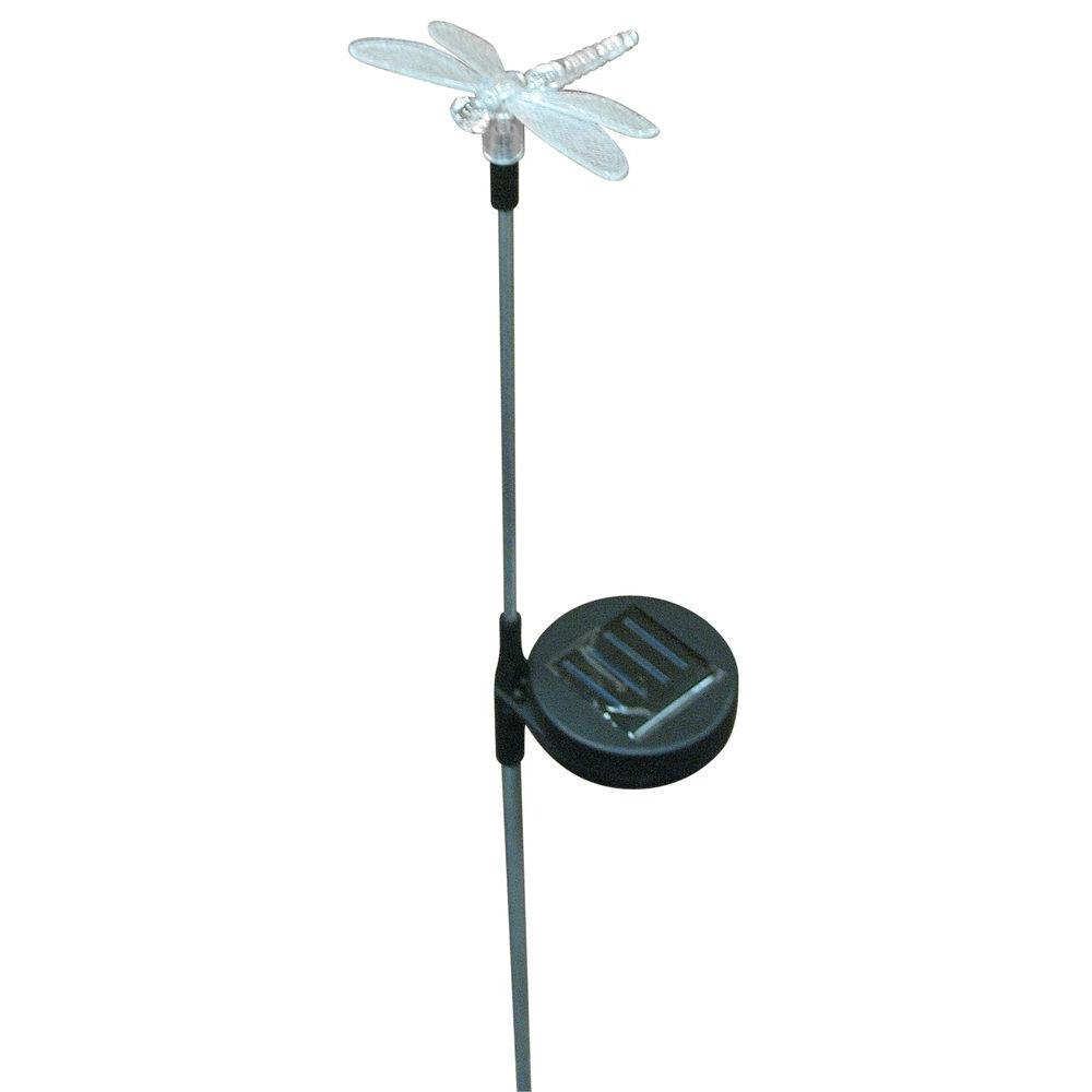 Hold All Outdoor Black LED Dragonfly Solar Path Light-DISCONTINUED