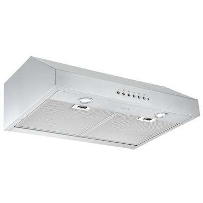 30 in. 450 CFM Ducted Under-Cabinet Range Hood in Stainless Steel with Night Light Feature
