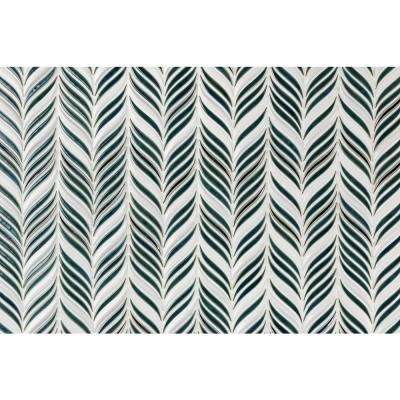 Oracle Alula Deep Emerald 10-1/4 in. x 11-7/8 in. x 10mm Glazed Ceramic Mosaic Tile