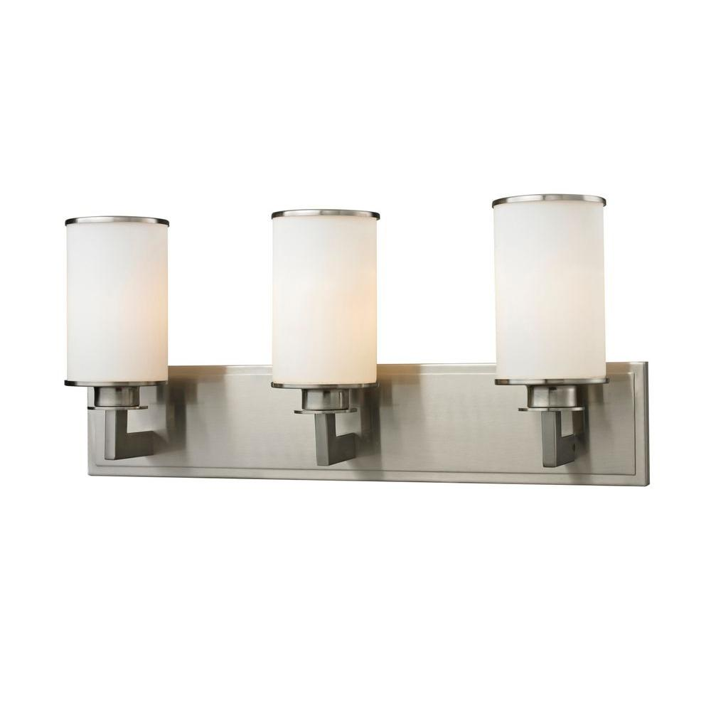 Lacy 3-Light Brushed Nickel Bath Vanity Light