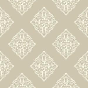 York Wallcoverings Tropics Henna Tile Wallpaper At7028 The Home Depot