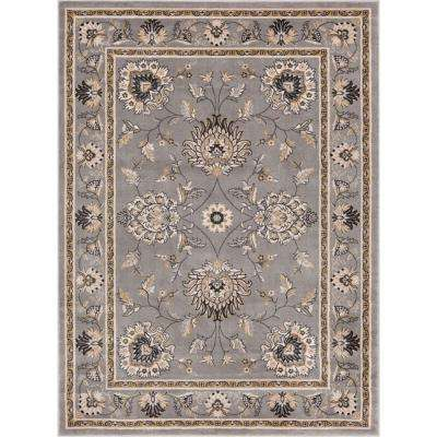 Timeless Abbasi Gray 11 ft. x 15 ft. Traditional Area Rug