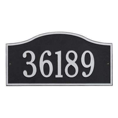 Rolling Hills Rectangular Black/Silver Grande Wall One Line Address Plaque