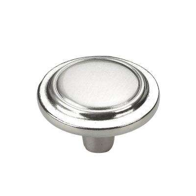 1-1/4 in. (32 mm) Brushed Nickel Cabinet Knob