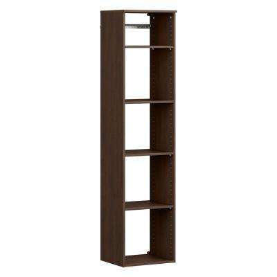 Style+ 14.59 in. D x 16.97 in. W x 71.6 in. H Chocolate Wood Closet System Hanging Tower