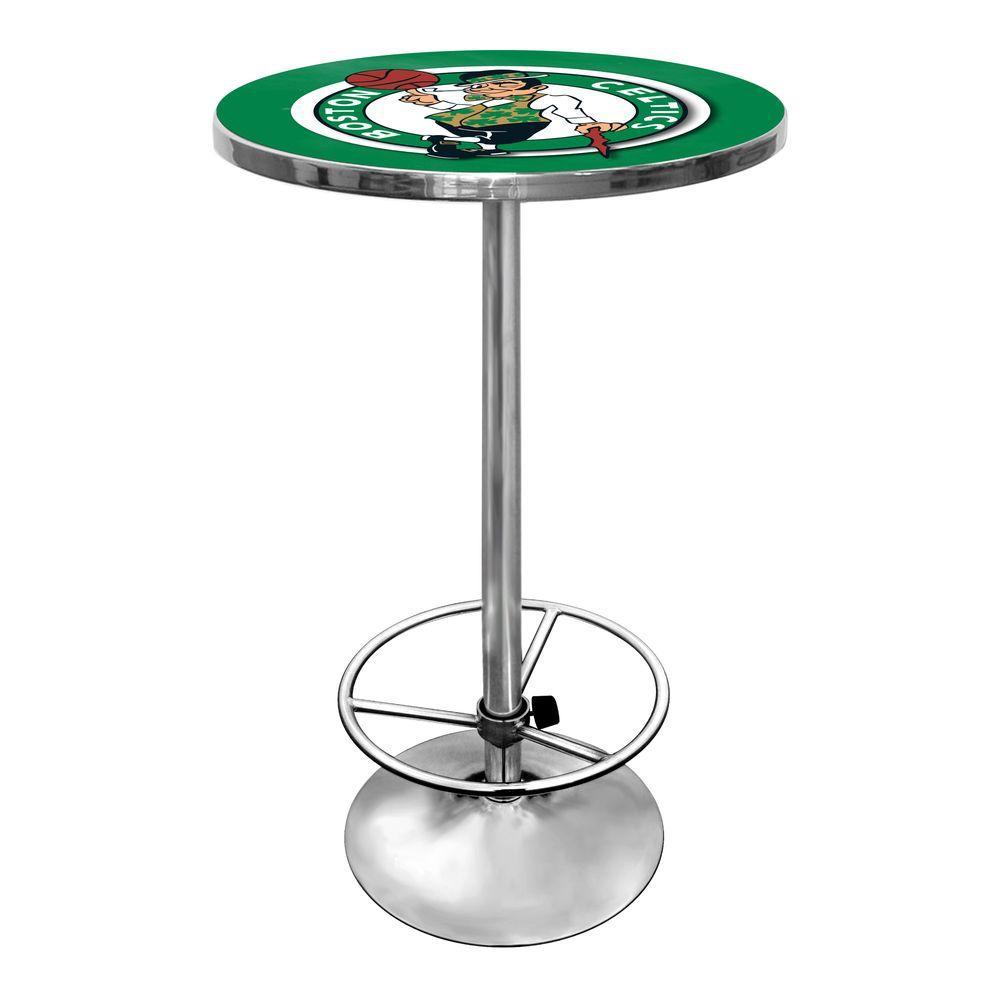 NBA Boston Celtics Chrome Pub/Bar Table