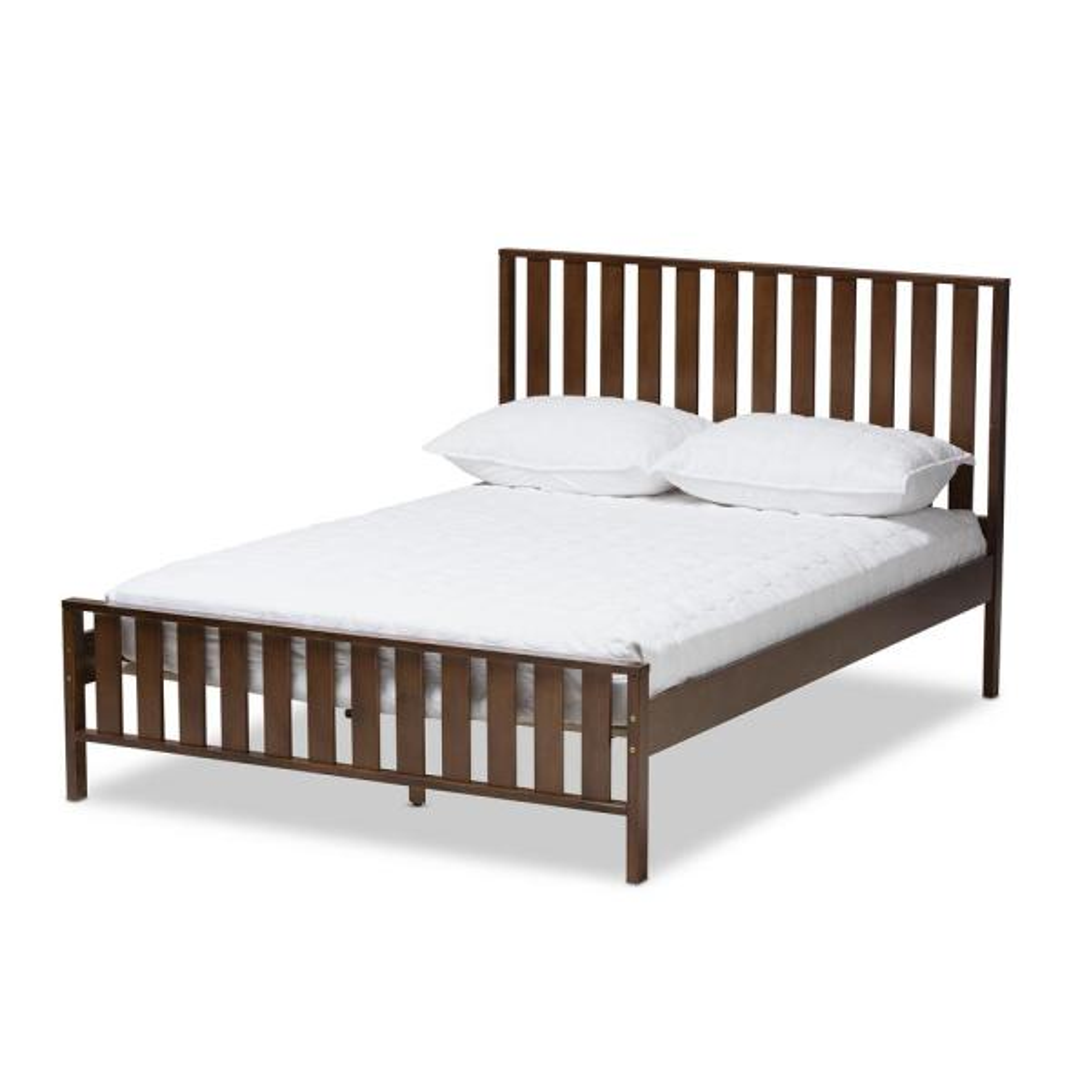 Baxton Studio Harlan Walnut Brown Full Platform Bed 143-7855-HD