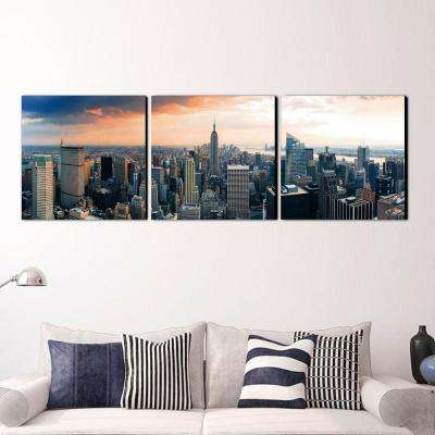 "24 in. x 72 in. ""Empire State City View"" Printed Wall Art"