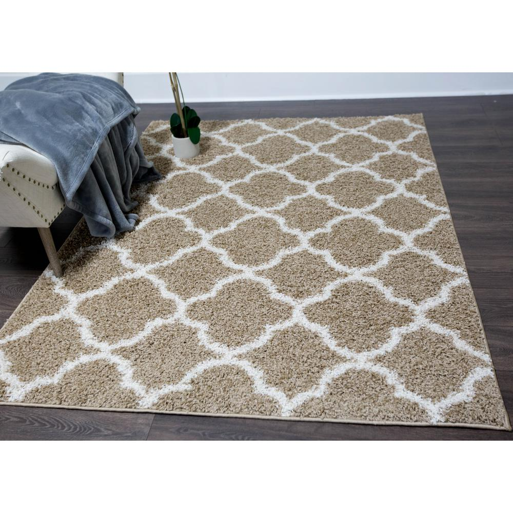 Nicole Miller Synergy Beige White 8 Ft X 10 Indoor Area Rug