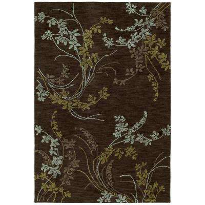 Inspire Vision Chocolate 9 ft. x 12 ft. Area Rug