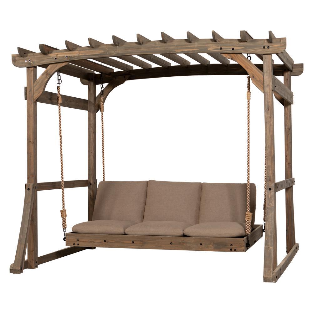 Backyard Discovery Claremont Lounger Wood Pergola Swing