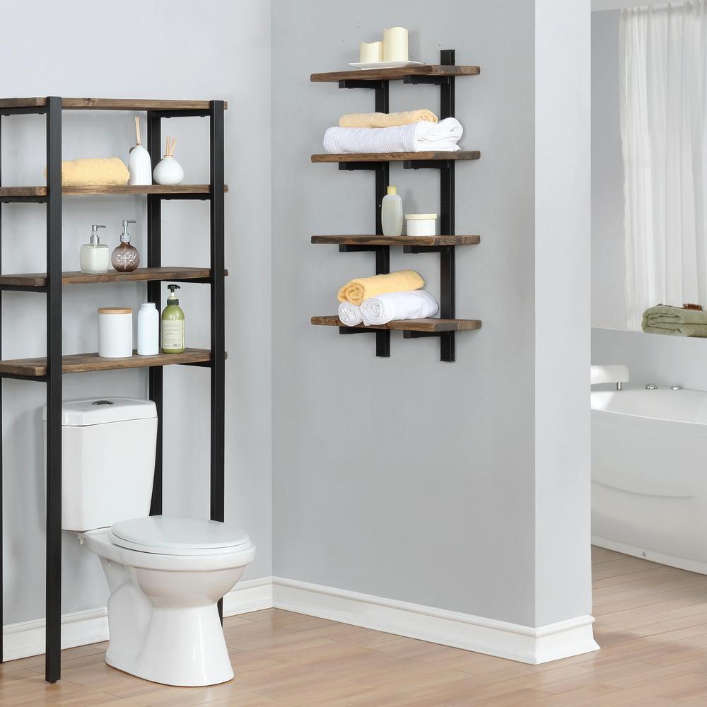 Wall Mounted 4 Tier Bath Shelf