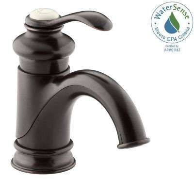 Fairfax Single Hole Single Handle Mid-Arc Bathroom Vessel Sink Faucet in Oil-Rubbed Bronze