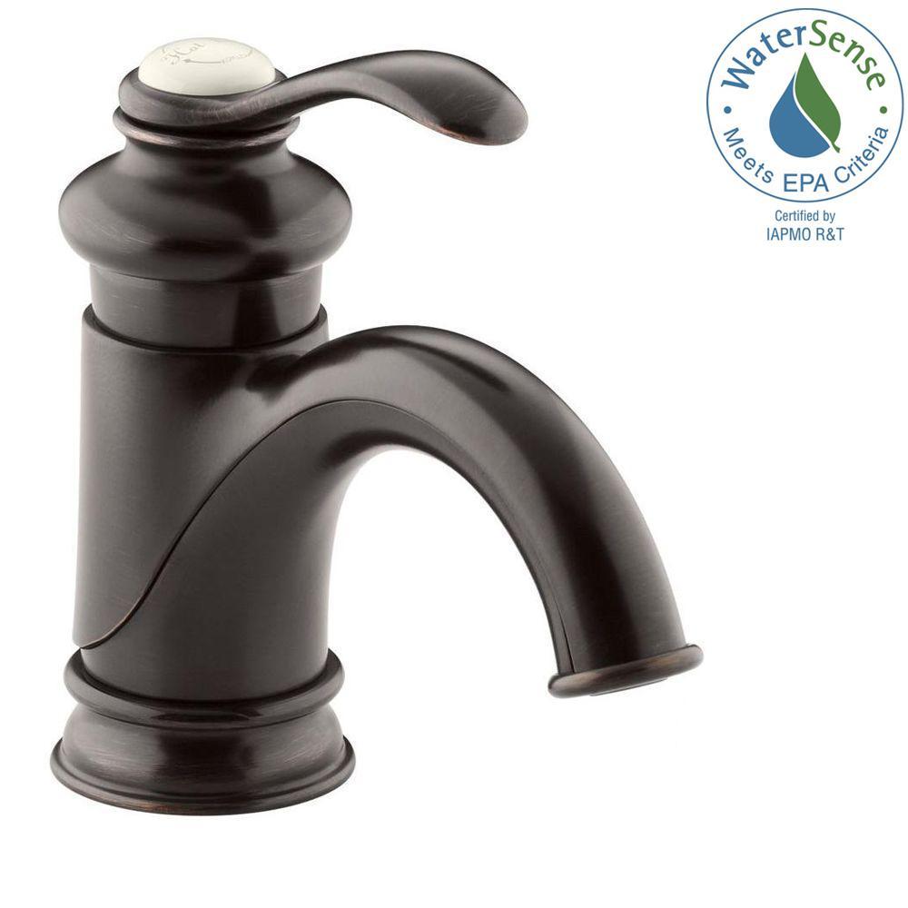 Vessel Sink Faucets Oil Rubbed Bronze.Kohler Fairfax Single Hole Single Handle Mid Arc Bathroom Vessel Sink Faucet In Oil Rubbed Bronze