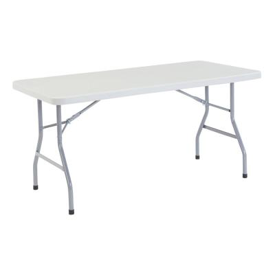 60 in. Grey Plastic Folding Banquet Table