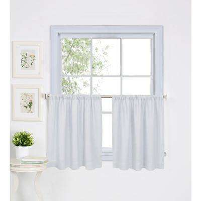 Elrene Cameron Single Window Kitchen Valance in White - 60 in. W x 15 in. L,