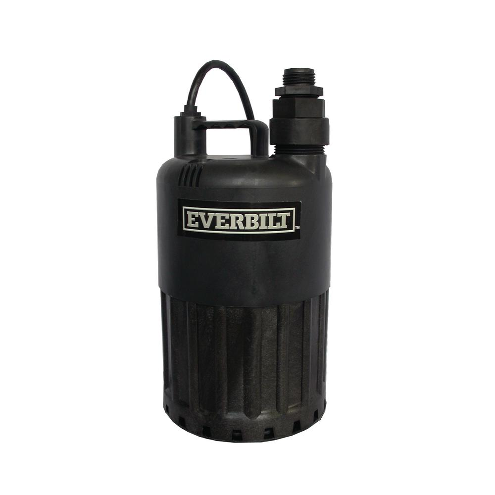Everbilt 4/10 HP Waterfall Submersible Utility Pump-SUP80-HD - The ...