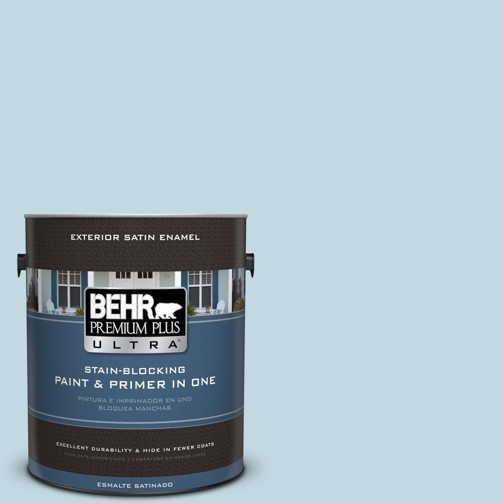 BEHR Premium Plus Ultra 1-gal. #S480-1 Rain Dance Satin Enamel Exterior Paint